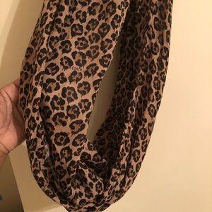 Leopard print Coach infinity scarf